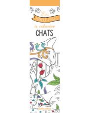 Mes marque-pages à colorier : chats
