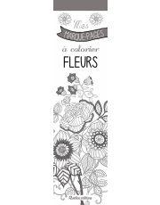 Mes marque-pages à colorier fleurs