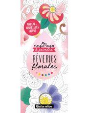 Mes marque-pages à peindre : Rêveries florales