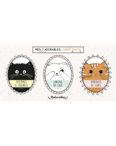 Mes 3 adorables livres chats