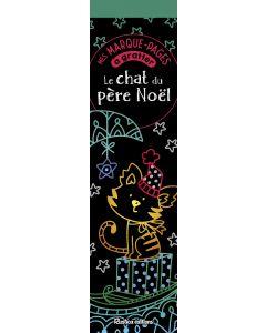 Mes marque-pages à gratter : Le chat du père Noël