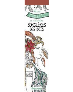 Mes marque-pages à colorier : sorcières des bois